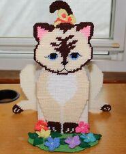 Handmade Plastic Canvas Himalayan Cat Tissue Box Cover