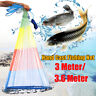 8/10/12FT Colorful Throw Hand Cast Fishing Net Spin Network Bait Fish Net+Sinker