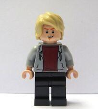 LEGO Flesh Minifigure Figure Boy Man Grey Hoody Hoodie Blonde Hair