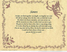 PERSONALIZED POEM PRAYER NAME MEANING SPECIAL ART PRINT GREAT GIFT FOR SISTER