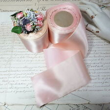 17y SPOOL BABY PINK FRENCH LUXURY SATIN OMBRE RIBBON TRIM VTG ANTIQUE HAT WORK