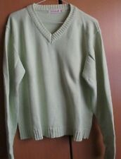 Ladies light green v-neck jumper, size 18-20