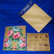 VTG  PKG 1940S TRIMZ Flowers DIE CUT PUNCH OUT LITHOS - CRAFTS CARDS SCRAP BOOK