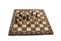 Schachbrett Spiel Schach Schachspiel Holz Basteln Polen 47x47cm Peterandclo 6779