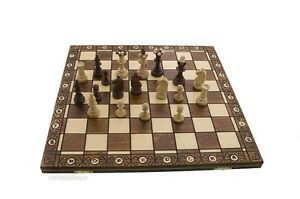 Checkerboard Game Chess Wood Crafts Poland 47x47cm Peterandclo 6779