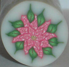 SALE - UNLIMITED CANES SHIP FOR $4 - RED & WHITE POINSETTIA CANE by SueC #S430