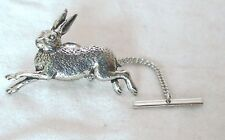 Running Hare Tie Pin by Hoardersworld in English Pewter, Gift Boxed, rabbit (ab)