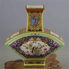 """8.4"""" Collect Old China Ancient Dynasty Enamel Porcelain Flower Vase Bottle Pot"""