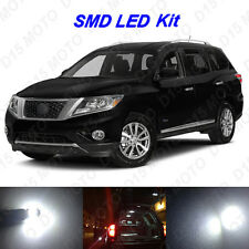 11 x White LED Interior Bulbs + Reverse + Tag Lights for 2013-2016 Pathfinder