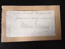 MARIE BREMA - EARLY ENGLISH OPERA SINGER - SIGNED PIECE FROM  END OF LETTER
