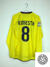 Barcellona Iniesta #8 08/09 L/S Away Football Shirt (M) in jersey calcio Nike