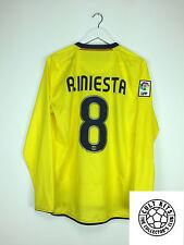 Barcelona INIESTA #8 08/09 L/S Away Football Shirt (M) Soccer Jersey Nike