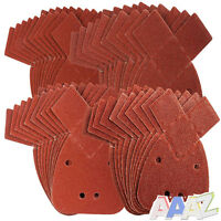 40x Mouse Sanding Sheets to Fit Black and Decker Detail Palm Sander All Grades