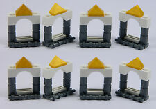 LEGO Arch Windows for Princess House Castle (Pack of 8) Dark Stone Grey White *