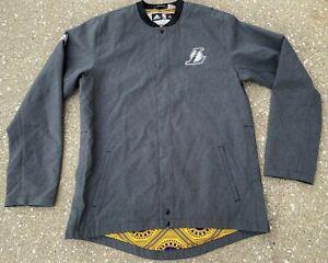 """ADIDAS LA LAKERS NBA Snap Up Basketball Embroider Shooting Sample Jacket XL +2"""""""