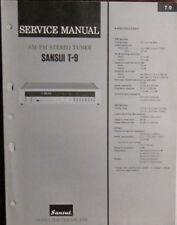Sansui T9 tuner service repair workshop manual (original copy)