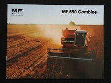 1980 MASSEY FERGUSON MF 550 MF550 COMBINE CATALOG SALES BROCHURE MINT SHAPE