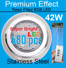 New Stainless Steel Resin Filled 42w 480pcs LED RGB 7Color Swimming Pool Light