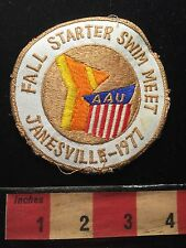 Vtg Wisconsin ~ Janesville 1977 Y YMCA AAU Fall Starter Swim Meet Patch 68WO