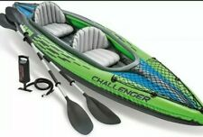 Intex Challenger K2 Inflatable Kayak 68306 Green Black UK STOCK READY TO SHIP