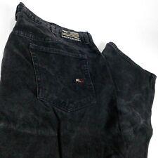 Ralph Lauren Polo Jeans Co Black Denim Big Tall 67 Loose W 44 L 32