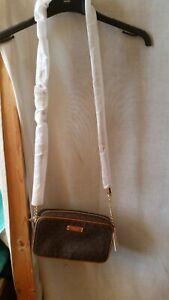 Michael Kors Brown Monogram Cross Body Bag
