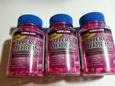 3x600 Kirkland Allergy Medicine Diphenhydramine HCI 25mg Mini Tabs Antihistamine