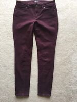 WHITE HOUSE BLACK MARKET Skinny Leg Purple Side Zip Ankle Soft Leggings Pants 4
