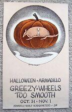 1975 JIM FRANKLIN JFKLN GREEZY WHEELS TOO SMOOTH HALLOWEEN ARMADILLO POSTER