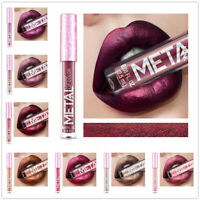Glitter Metallic Lip Gloss Waterproof Liquid Lipstick Long Lasting Makeup Tool
