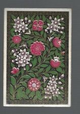 Playing  Cards 1 ANTIQUE SQUARE CORNER PINK & WHITE   BLOSSOMS  SQ47  C1800'S