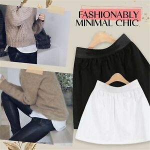 Mini Skirt Shirt Extenders Fashion Adjustable Layering Fake Top Lower Sweep