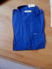 NWT Hollister Mussel Shoals Shirt Medium Navy