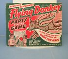 Flying Donkey GAME Pin Tail On Style Toy Airplane US Map Dionne Quints Vintage