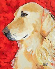 Golden Retriever 11x14 signed art PRINT RJK painting