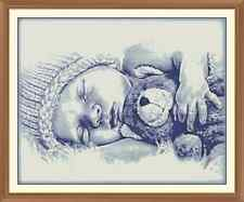 Sleeping Baby CROSS STITCH CHART  12.0 X 9.6 Inches