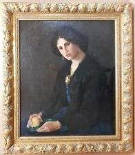 Portrait of an Edwardian Beauty. Circle of William Strang. Original Oil c1910