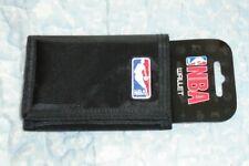 Official NBA Logo Basketball Black Nylon Trifold Foil Print Wallet