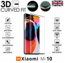 For Xiaomi Mi 10 Full 3D Tempered Glass 9H Screen Protector Cover Black Edge