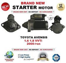 Para Toyota Avensis 1.6 1.8 VVTi 2000-on motor de arranque 1.3 kW 10 Dientes Nuevo
