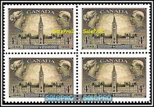 CANADA 1948 RESPONSIBLE GOVERNMENT FV FACE 16 CENT MNH RARE VINTAGE STAMP BLOCK