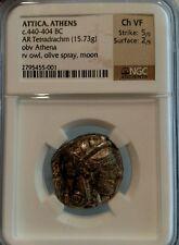Attica, Athens Tetradrachm NGC VF 5/2 Ancient Greek Coin owl BC 440-404