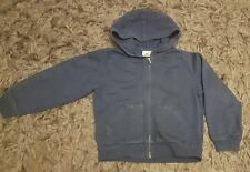 Boys Blue Lacoste Vintage Washed Hooded Jumper (Hoody) RARE- Age/Size 6