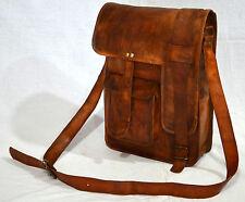"Men's Genuine Leather Cowhide Brown Attache Briefcase 16"" Laptop Bags Portfolio"