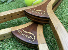 Antique Tennis Racquet Pair: Columbia & Champion, Wright & Ditson Racket, c.1905