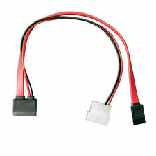 EXTRA LONG 79cm/2.9ft Slimline SATA Cable 13pin 6+7 Male to SATA 7p+LP4 Power
