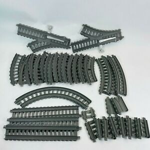 Thomas and Friends Trackmaster Train Track Lot GREY 34 Pieces Curves Splits Ends