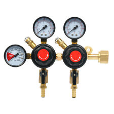"Two Product Dual Pressure Kegerator CO2 Regulator Fast AU Ship CGA320,5/16"""