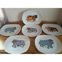 Beefeater English Ironstone Steak Grill Plates x 6  Vintage Pottery