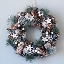 Christmas Wreath With Pinecone Design Garlands Winter Door Wall Window Accessory